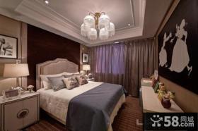 后现代风格三室两厅卧室装修图
