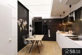 62平米小公寓一体式厨房装修效果图