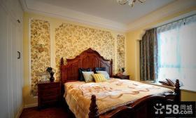 复古美式风格卧室设计效果图