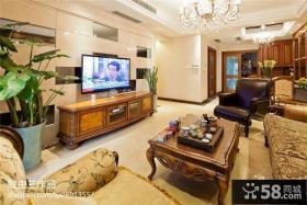 别墅客厅电视背景墙效果图大全2013图片