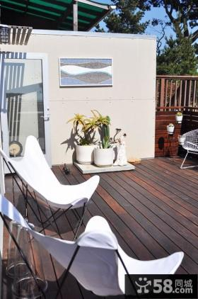 两室一厅露天阳台装修效果图
