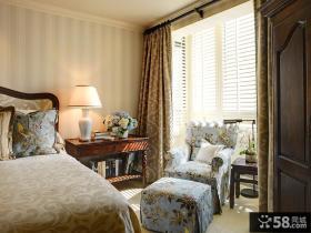 封闭式卧室小阳台窗帘图片