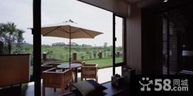 现代中式风格阳台设计图片大全