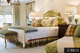 欧式田园风格卧室装饰效果图
