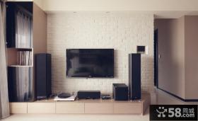 石膏电视背景墙装修效果图大全2013图片