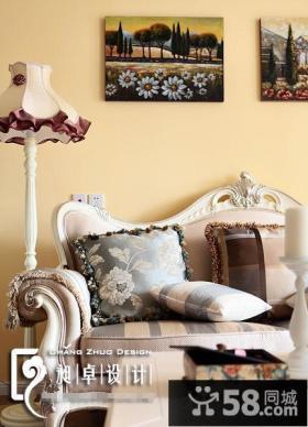 欧式客厅沙发背景墙面漆颜色效果图