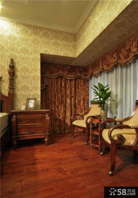 美式风格卧室地板装修图片