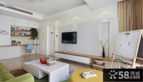 简约时尚设计室内客厅电视背景墙图片欣赏