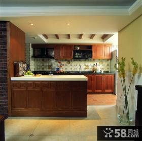 大户型整体厨房装修效果图片