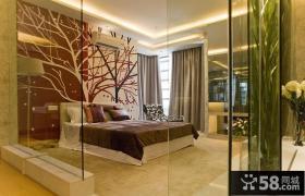 卧室彩绘背景墙装修设计