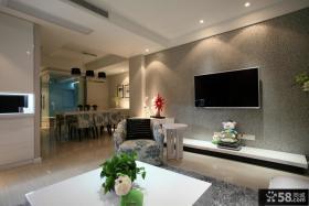 现代客厅电视背景墙装饰设计图片