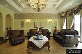 欧式古典风格别墅客厅装修效果图大全