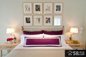 很有后现代特点的美式风格卧室装修效果图