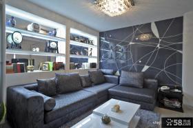 现代简约家装客厅装修设计图