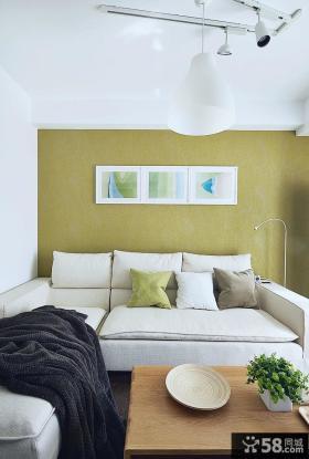 优质简约客厅沙发背景墙装饰画图片