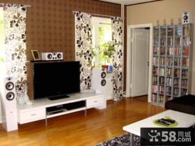 简约小客厅电视背景墙设计