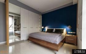 现代风格两室两厅卧室衣柜设计图片大全