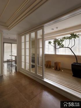台北仁愛路屋案-现代风格封闭式阳台装修效果图大全2012图片