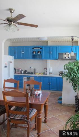 开放式厨房餐厅装修效果大全2013图片