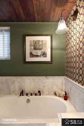 现代美式卫生间浴室墙面装饰画