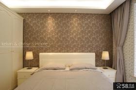 现代简约风格卧室床头壁纸背景墙图片大全2013图片
