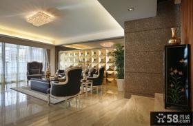 新古典家居客厅吊顶整体装修效果图