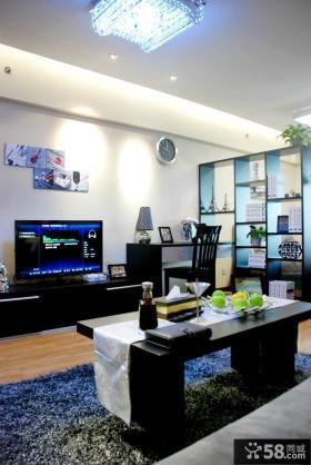 现代风格电视墙简单装修效果图