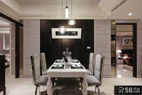 浪漫现代风格二室一厅餐厅装修图片