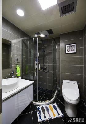 现代简约卫生间设计装饰效果图片