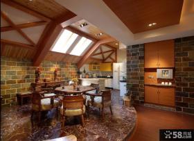 2013阁楼餐厅装修效果图欣赏