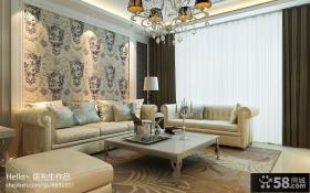 简欧风格餐厅沙发背景墙装修效果图