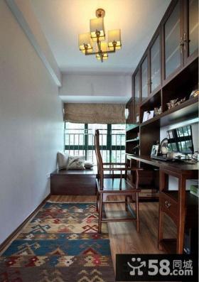 美式家居长方形书房装修图片