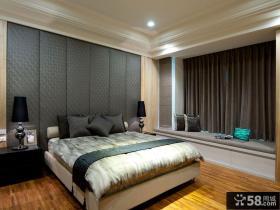 现代家庭三居卧室设计效果图