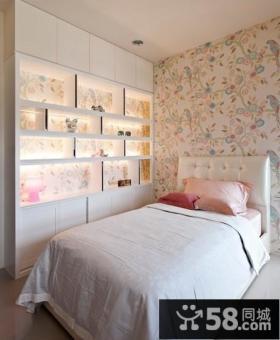 简约小卧室壁纸装修效果图欣赏