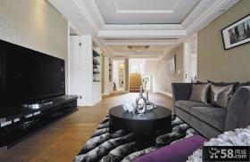 新古典装修小客厅电视背景墙图片大全