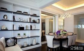 简约法式餐厅装饰设计效果图片