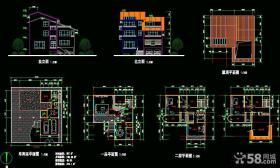 2013三层别墅设计图纸及效果图大全