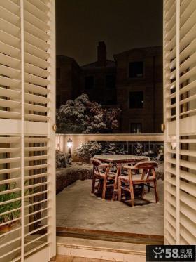 别墅室外露天阳台效果图片