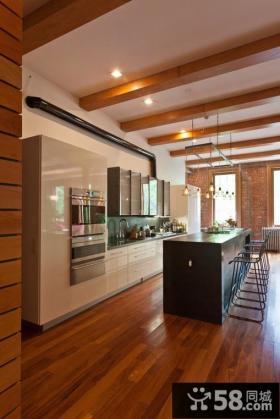 美式现代风格厨房装修效果图大全2012图片