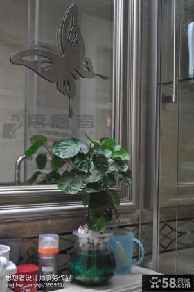 卫生间蝴蝶时尚装饰图片