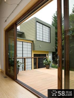 家装阳台玻璃推拉门效果图片
