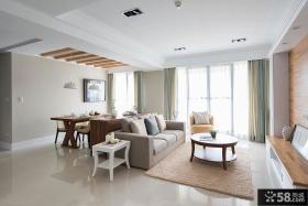韩式简约大户型家庭客厅装修效果图