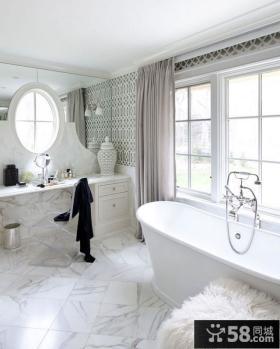 轻盈优雅的复式楼卫生间装修效果图大全2012图片