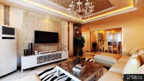 客厅影视墙壁纸装修效果图