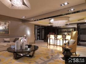 后现代风格客厅吊顶造型设计效果图