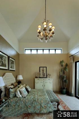 美式风格卧室装修效果图片欣赏大全