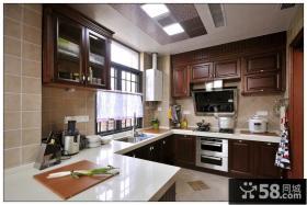 美式风格厨房装修2014