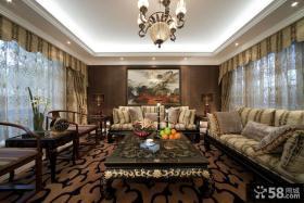 豪华别墅客厅装修设计效果图
