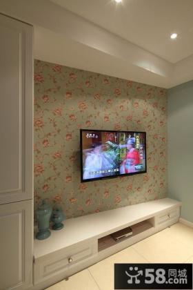 现代家居电视背景墙装饰设计效果图