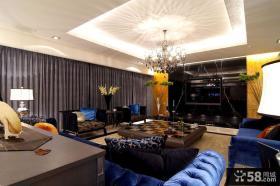 三室一厅现代风格吊顶装修设计效果图